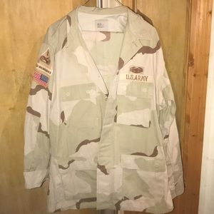 Military Issue Desert Camo Large Long Field Suit